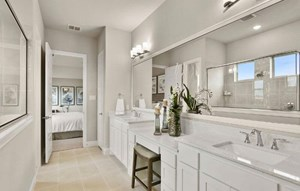 Owner's Suite Bathroom Trophy Signature Homes in Hollyhock Frisco, TX