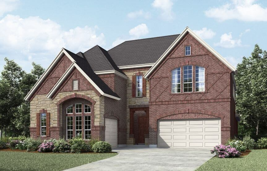 Landon Homes Plan 698 Eastwood Elevation A in Hollyhock