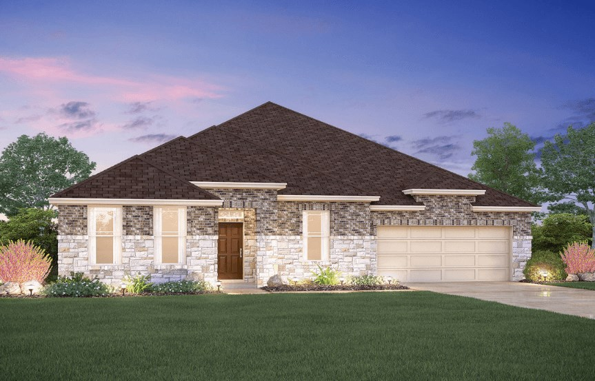 MI Homes Plan Nolan Elevation C2 in Hollyhock