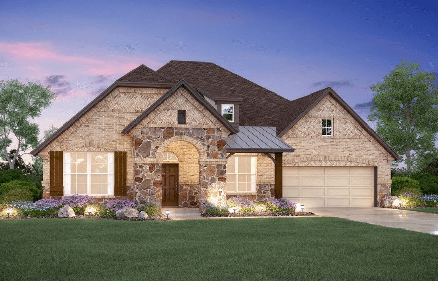 MI Homes Plan Nolan Elevation E2 in Hollyhock
