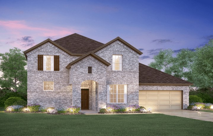 MI Homes Plan Zacate Elevation B in Hollyhock