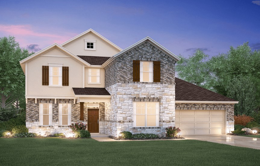 MI Homes Plan Medina Elevation D2 in Hollyhock