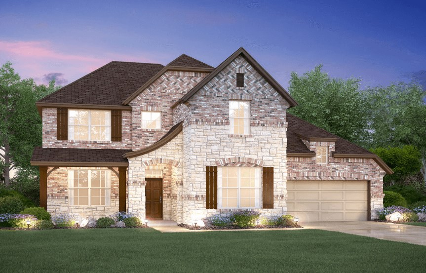 MI Homes Plan Medina Elevation E2 in Hollyhock