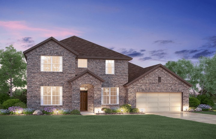 MI Homes Plan Dickinson Elevation B in Hollyhock