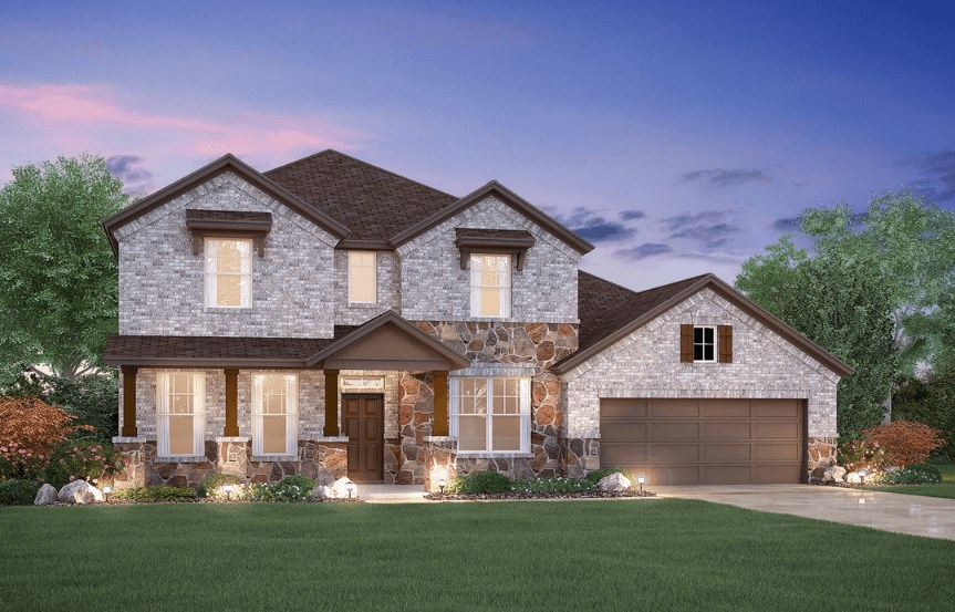 MI Homes Plan Dickinson Elevation D2 in Hollyhock
