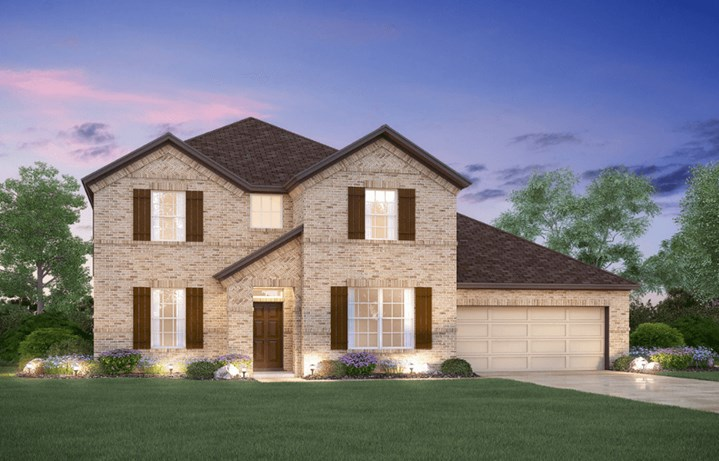 MI Homes Plan San Marcos Elevation B in Hollyhock