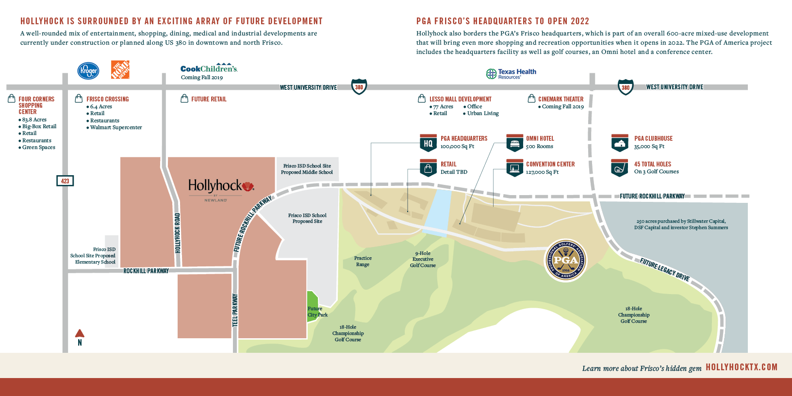 Future PGA Headquarters Map in Frisco, TX