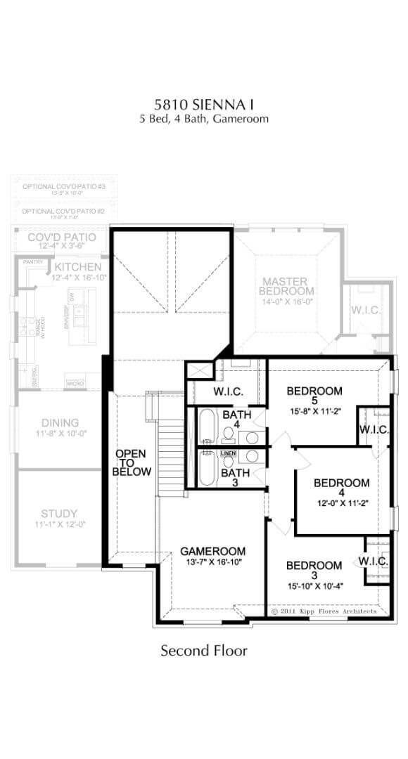 Landon Homes Plan 5810 Sienna I Second Floor in Hollyhock