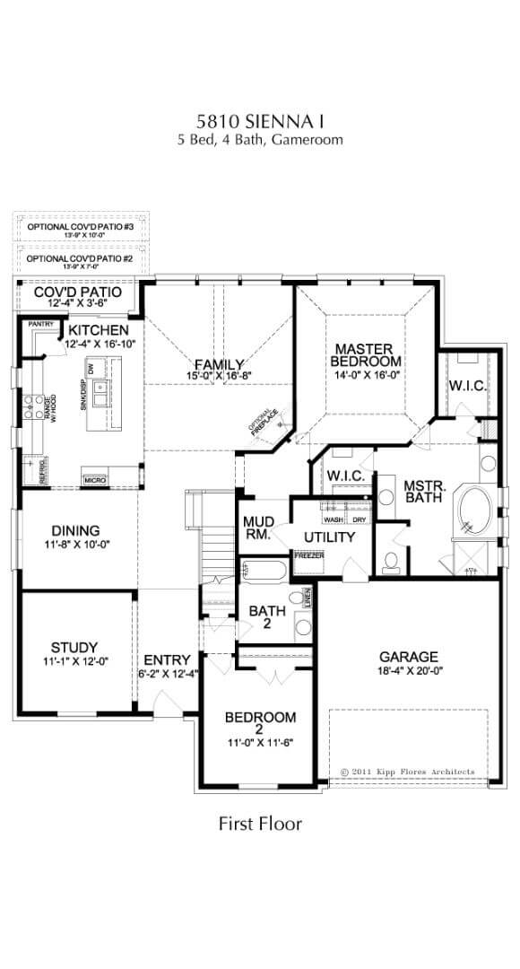 Landon Homes Plan 5810 Sienna I First Floor in Hollyhock