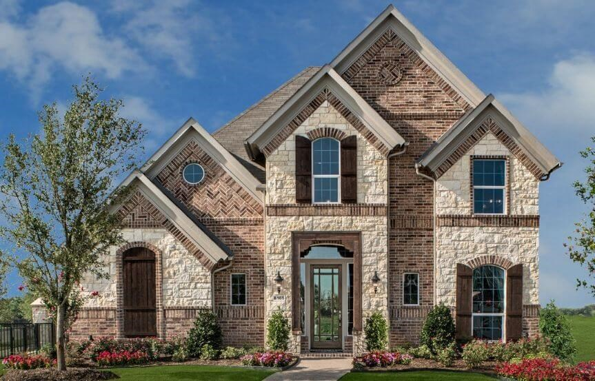 Landon Homes Plan 186 Ridgecrest Elevation A in Hollyhock