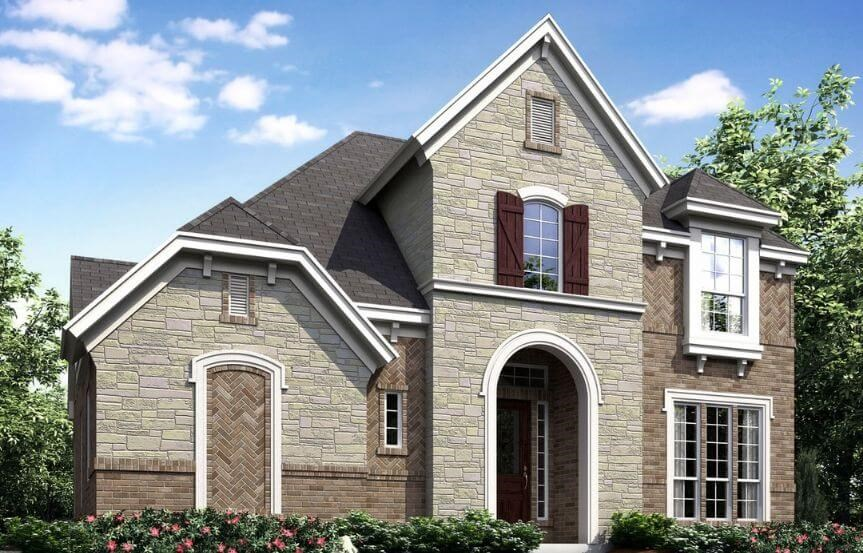 Landon Homes Plan 186 Ridgecrest Elevation B in Hollyhock