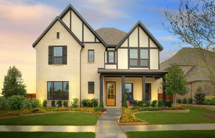 Drees Homes Plan Violet Elevation A in Hollyhock