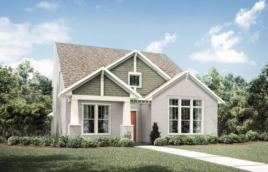 Drees Homes Plan Kamelia Elevation B in Hollyhock