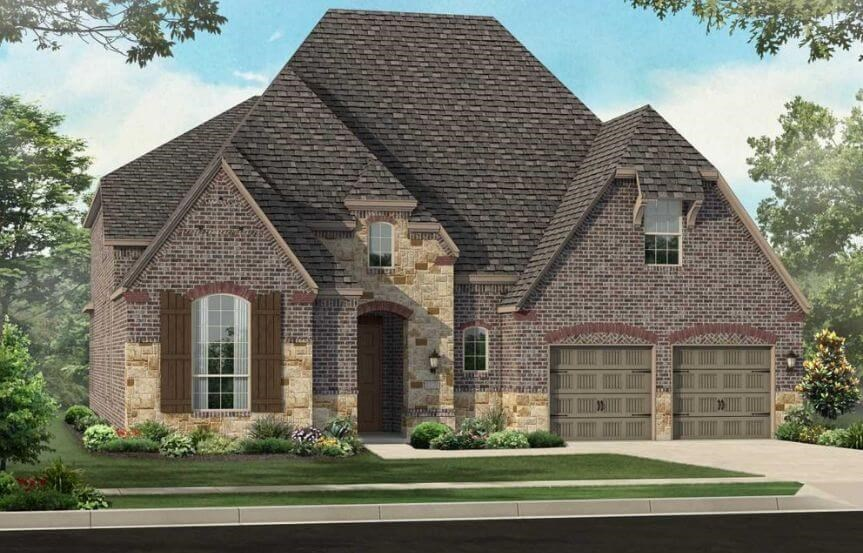 Highland Homes Plan 247 Elevation D in Hollyhock