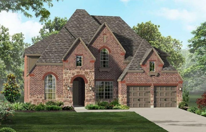 Highland Homes Plan 244 Elevation in Hollyhock