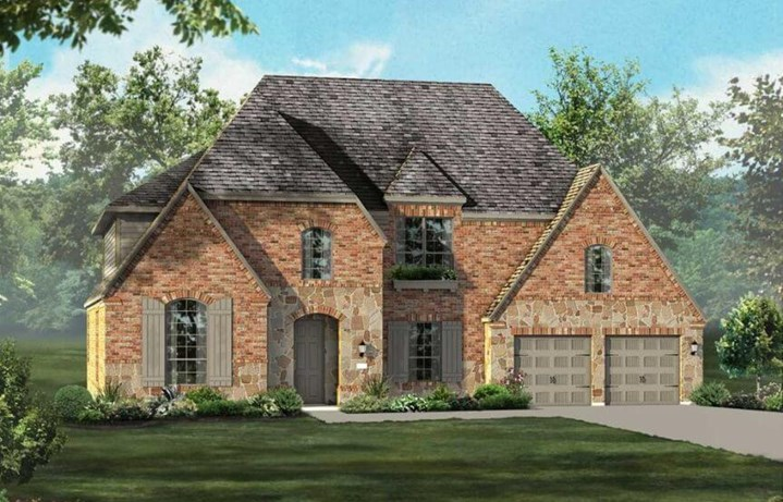 Highland Homes Plan 264 Elevation in Hollyhock
