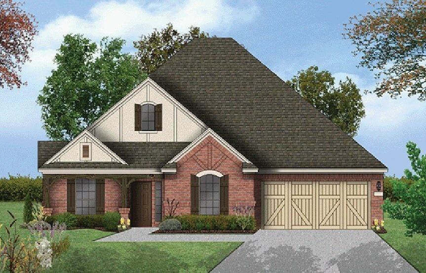 Coventry Homes Plan 2760 Elevation in Hollyhock