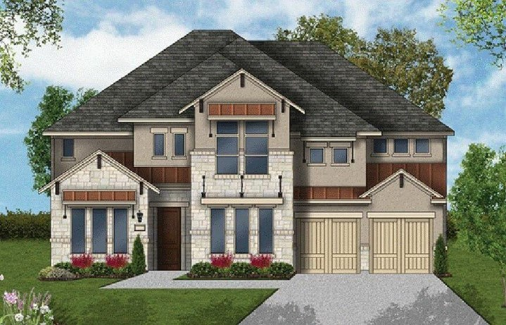 Coventry Homes Plan 3630 Elevation in Hollyhock