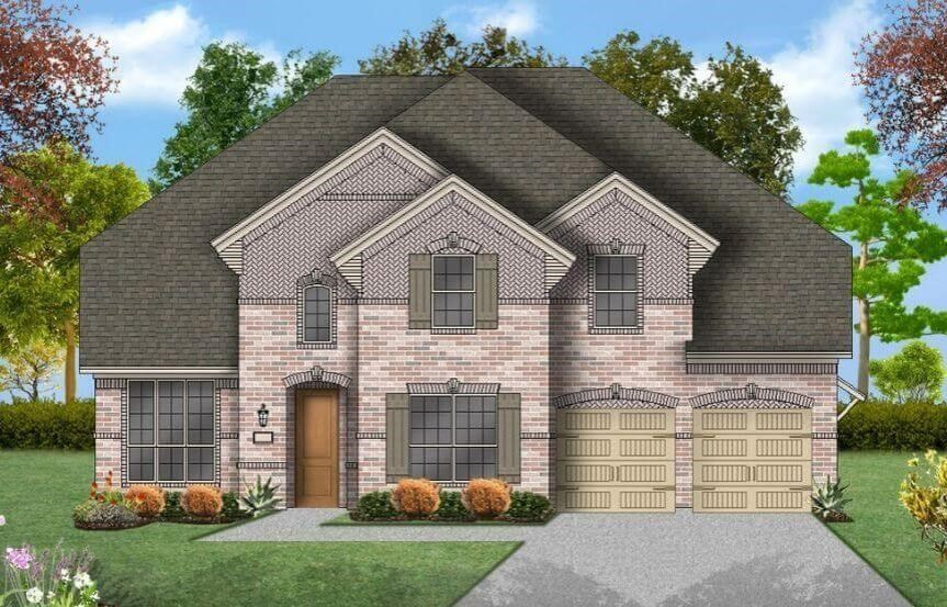 Coventry Homes Plan 3630 Elevation B in Hollyhock