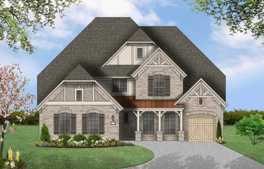 Coventry Homes Plan 3767 Elevation E in Hollyhock