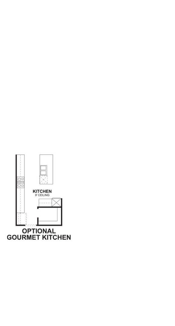 M/I Homes Plan Medina First Floor Optional Kitchen in Hollyhock