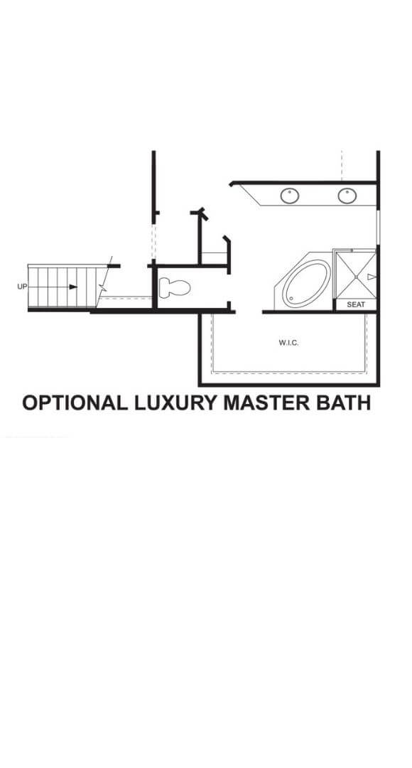 M/I Homes Plan Medina Optional Master Bath in Hollyhock