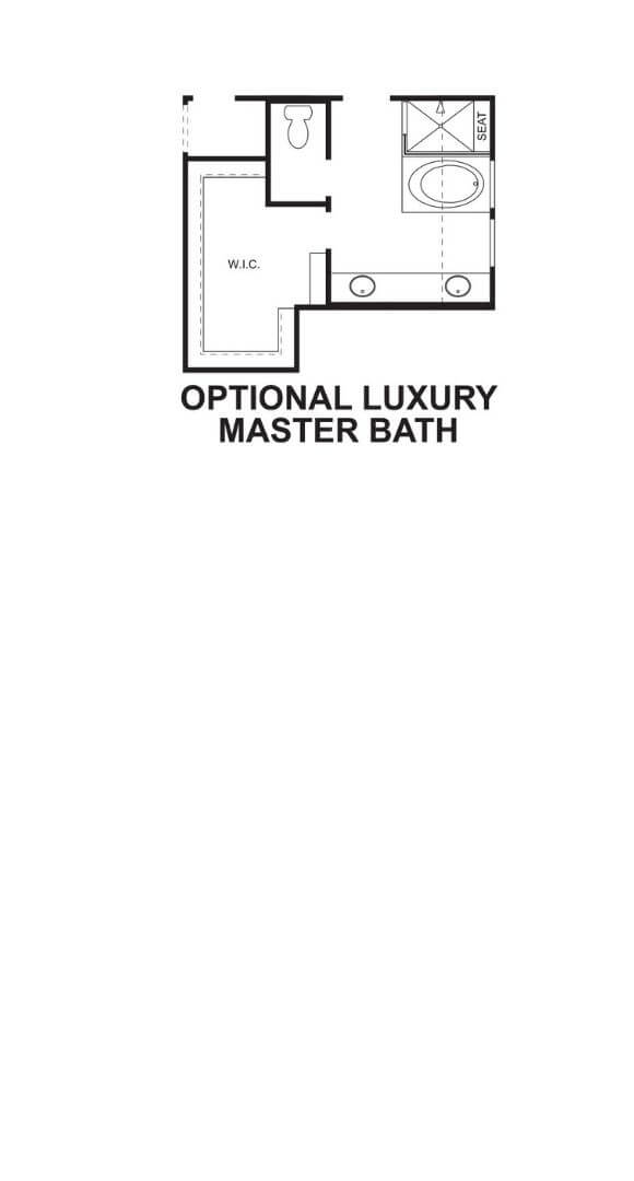 M/I Homes Plan Nolan Optional Master Bath in Hollyhock