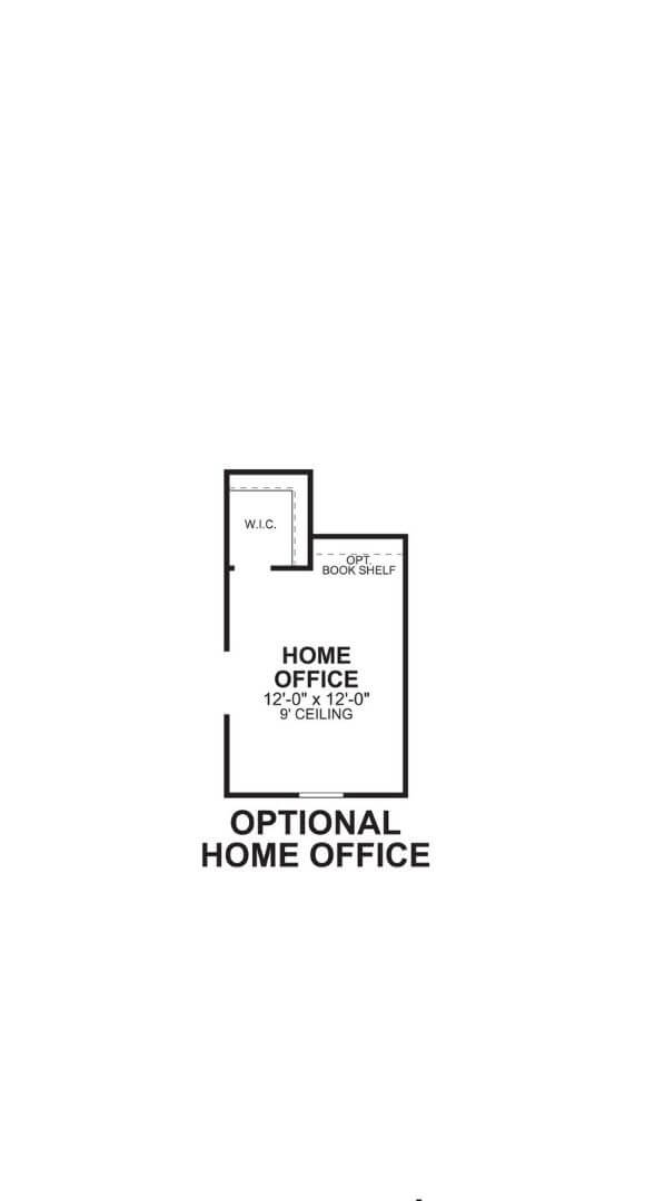 M/I Homes Plan Nolan Optional Office in Hollyhock