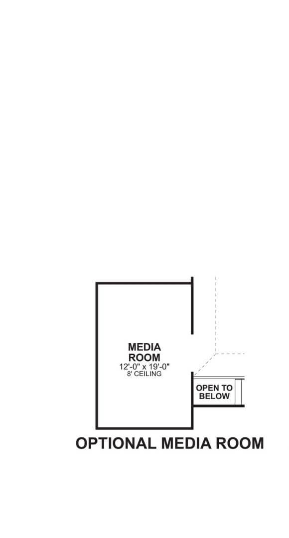 M/I Homes Plan Nolan Optional Media in Hollyhock