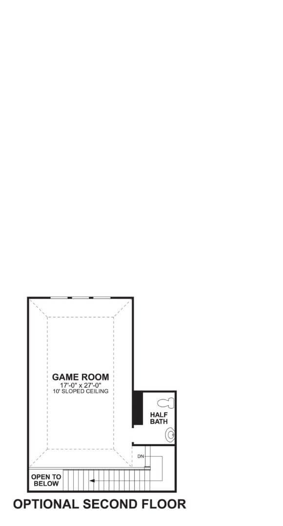 M/I Homes Plan Nolan Optional Game in Hollyhock