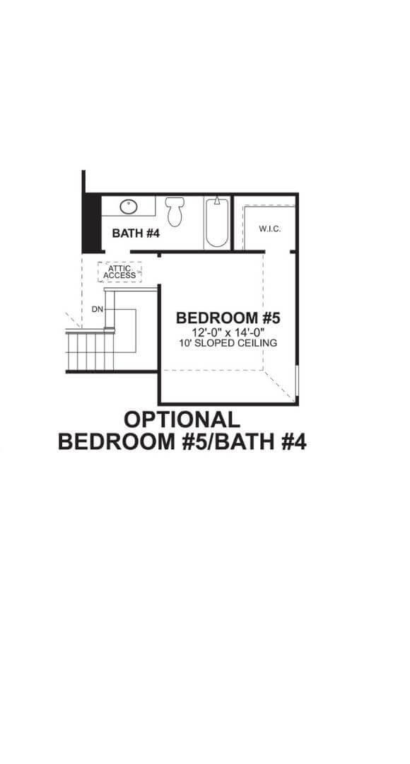 M/I Homes Plan Nolan Optional Bed and Bath in Hollyhock