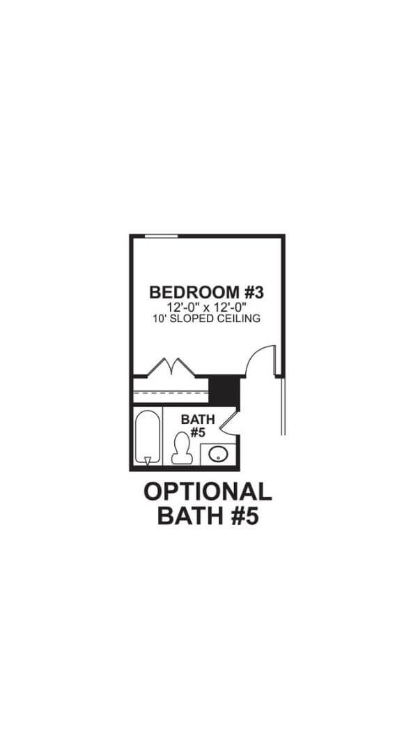 M/I Homes Plan Zacate Optional Bed and Bath 5 in Hollyhock