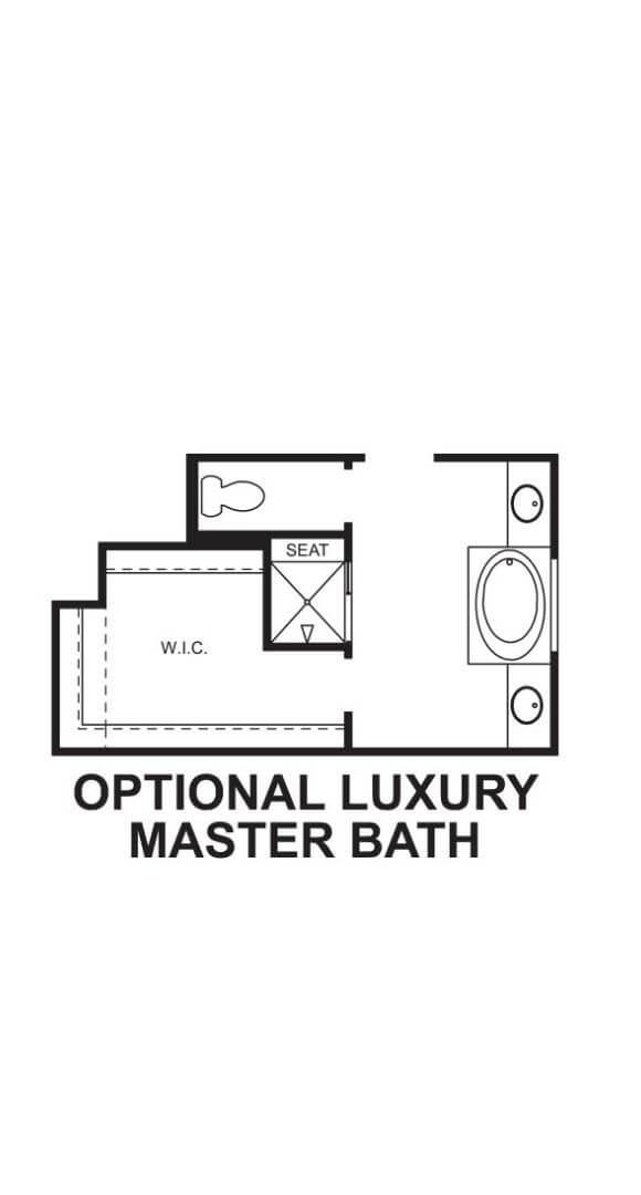 M/I Homes Plan Zacate Optional Master Bath in Hollyhock