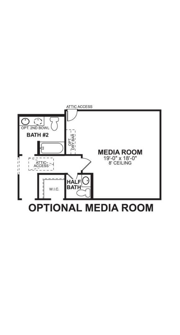 M/I Homes Plan Zacate Optional Media in Hollyhock