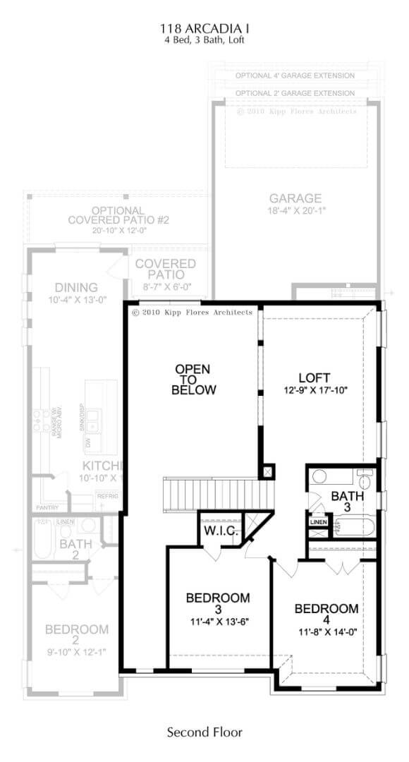Landon Homes Plan 118 Arcadia I Second Floor in Hollyhock