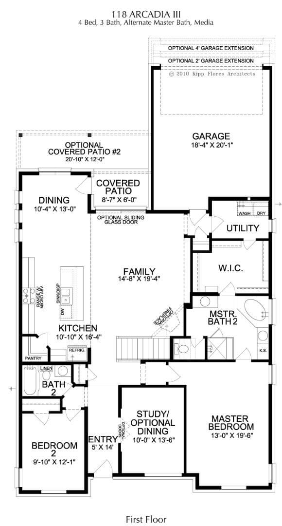Landon Homes Plan 118 Arcadia III First Floor in Hollyhock