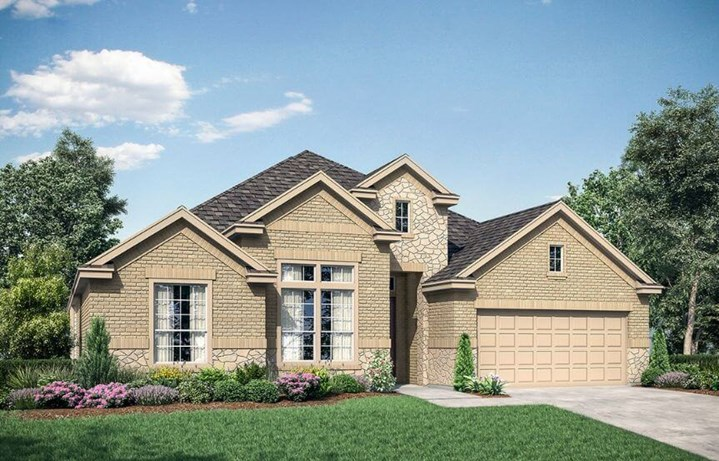 Landon Homes Plan 609 Bradford Elevation in Hollyhock