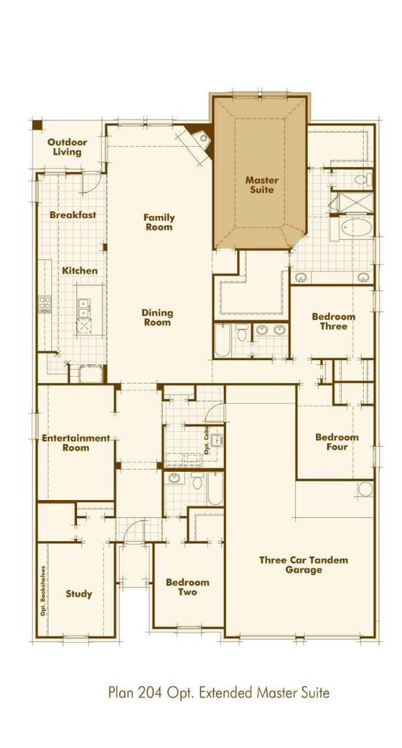 Highland Homes Plan 204 First Floor Optional Master