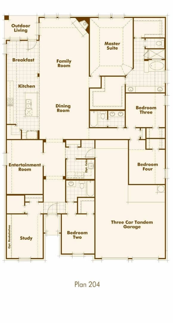 Highland Homes Plan 204 First Floor