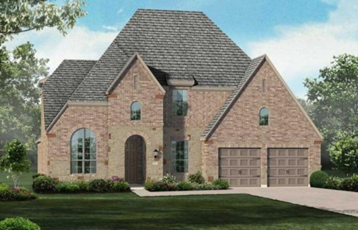 Highland Homes Plan 208 Elevation D in Hollyhock