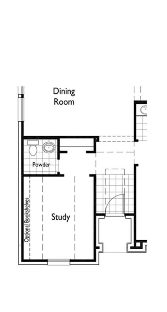 Highland Homes Plan 208 Dining and Study in Hollyhock