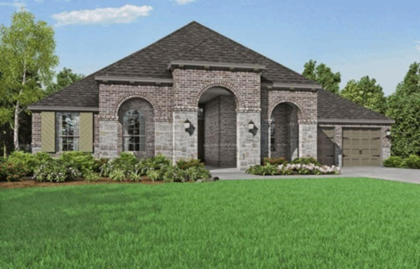 Highland Homes Plan 271 Elevation B in Hollyhock