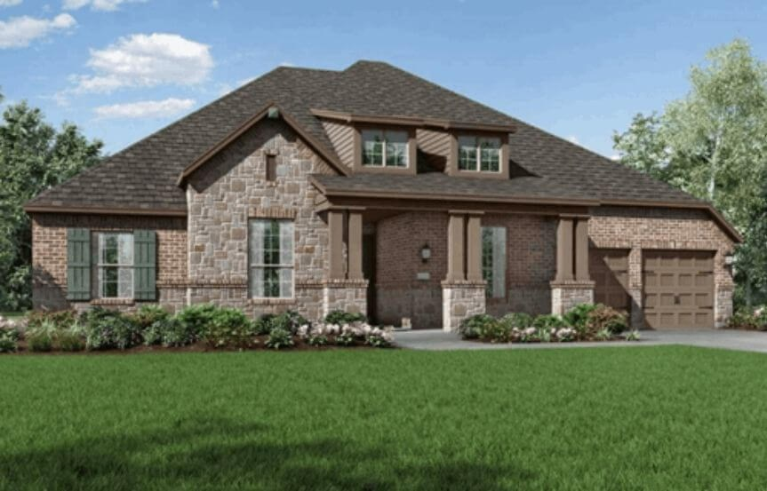 Highland Homes Plan 271 Elevation C in Hollyhock