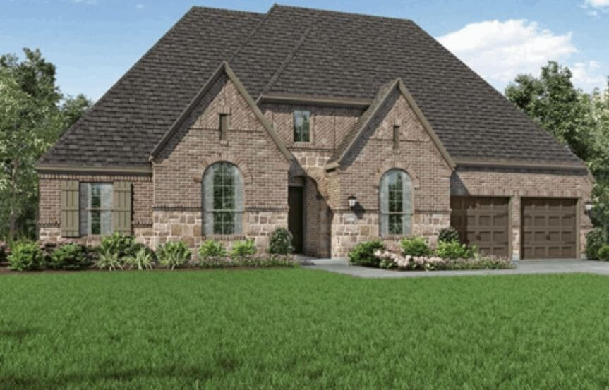 Highland Homes Plan 271 Elevation D in Hollyhock