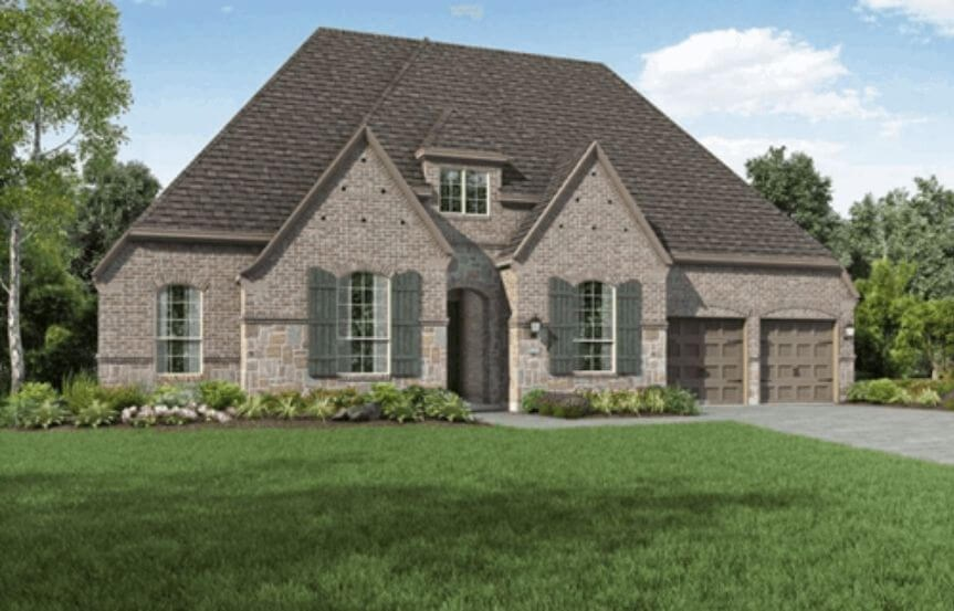 Highland Homes Plan 271 Elevation E in Hollyhock