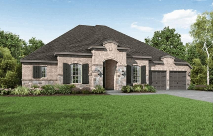 Highland Homes Plan 271 Elevation L in Hollyhock