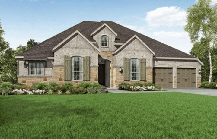 Highland Homes Plan 271 Elevation A in Hollyhock
