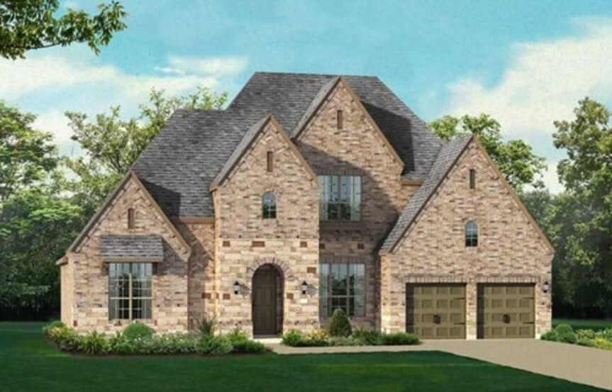 Highland Homes Plan 297 Elevation in Hollyhock