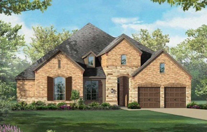 Highland Homes Plan 292 Elevation C in Hollyhock