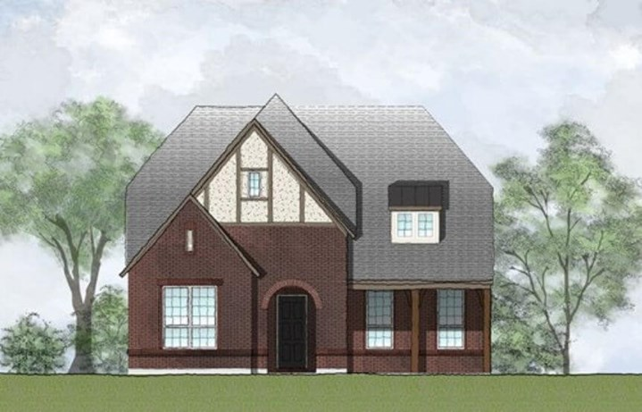 Drees Homes Plan Azalea Elevation A in Hollyhock